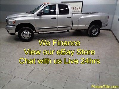Dodge : Ram 3500 SLT 4WD Quad Cab 6 Speed 6.7 Cummins Diesel 07 ram 3500 dually 4 x 4 6 speed 6.7 cummins diesel we finance texas