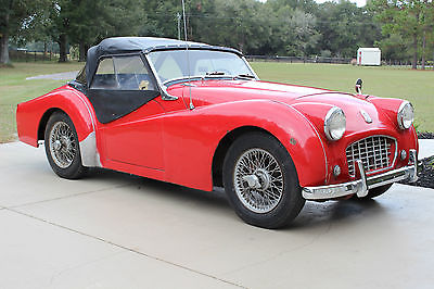 Triumph : Other Roadster 1957 triumph tr 3 small mouth tr 3 runs drives well wire wheels disc brakes