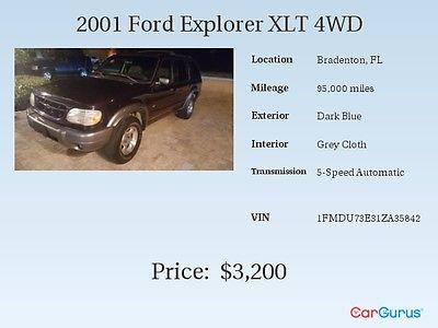 Ford : Explorer XLT 2001 ford explorer xlt sport utility 4 door 4.0 l