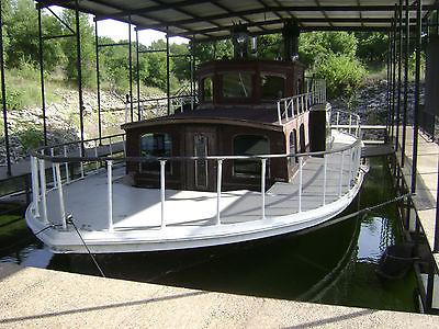 Vintage one of a kind sidewheeler paddlewheeler houseboat house boat