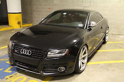 Audi : S5 Quattro 2008 audi s 5 lots of upgrades black exterior red interior w 20 vossen cv 7