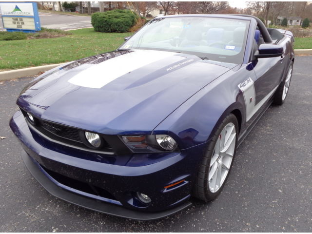 Ford : Mustang 575 Hp track ONE OF ONE MADE KONO BLUE ROUSH 427R SUPER CHARGED MANUAL CONVERTIBLES LOADED!!!