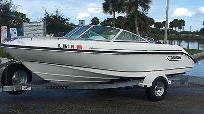 1996 Boston Whaler Rage 18 Boat Ford 351 V8 American Turbine Jet Drive Bowrider