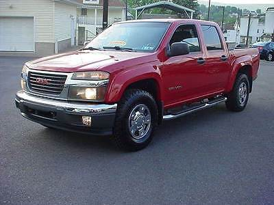 GMC : Canyon SLE 4X4 OFF ROAD 4DR CREW CAB 4 wheel drive 4 dr crew cab leather seating 79 k original miles runs great