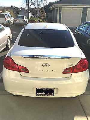 Infiniti : G37 4dr x AWD 4 dr x awd sedan automatic gasoline 3.7 l v 6 cyl white