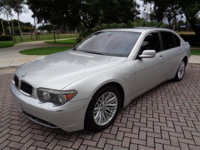 BMW : 7-Series 745Li Sedan Florida 2004 Navi Winter Pkg 60,678 Miles Vent. Seats Clean Autocheck Best Offer