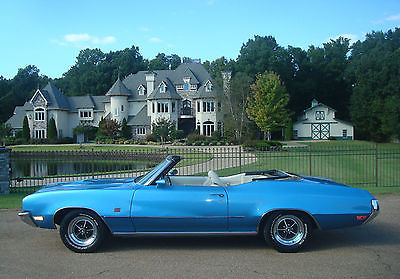 Buick : Skylark GS 1972 buick gs 455 convertible only 126 built 1 of 76 painted stratomist blue