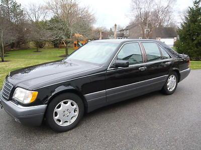 Mercedes-Benz : S-Class S320W 1995 mercedes benz s 320 w sedan w 140 black black leather 3.2 l il 6 rare