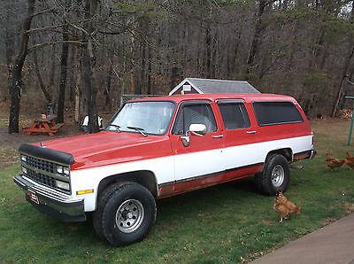 Chevrolet : Suburban 1500 Vintage 1989 Chevrolet Surburban 1500~4WD~Inspected & Runs Great!