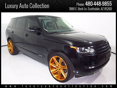 Land Rover : Range Rover 4WD 4dr Supercharged LWB 2014 range rover lwb 22 k miles rear entertainment camera s wood steering 2015 16