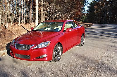 Lexus : IS 2010 lexus is 350 c navigation hardtop convertible low miles loaded