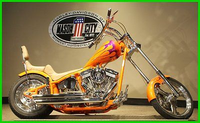Custom Built Motorcycles : Chopper 2004 custom built motorcycles chopper custom orange 124 ci engine watch our video