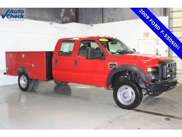 Ford : Other Pickups XL 09 ford f 550 crew cab 4 x 4 dually v 10 utility body ready for work wow