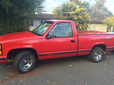 Chevrolet : C/K Pickup 1500 454 SS 1992 chevrolet 454 ss victory red
