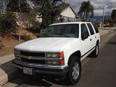 Chevrolet : Tahoe LT Used 1997 Chevy Tahoe LT 4X4