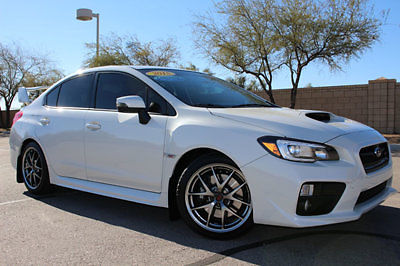 Subaru : WRX 4dr Sedan Limited 2015 subaru sti limited pearl white bbs wheels nav 13 k miles loaded