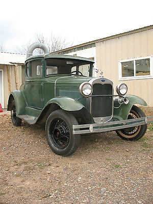 Ford : Model A 1930 ford model a coupe scta v 8 flathead hot rod rat barn find 1931 1932 1933