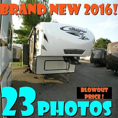 NEW 2016 Cougar X-Lite 29RLI lightweight 5th wheel island kitchen 3 slide BEAUTY