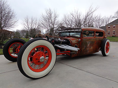 Ford : Model A Rat Rod / Streetrod 1929 ford model a tudor rolling art rat rod patina chopped custom show car