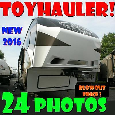 BRAND NEW TOYHAULER '16 Cougar 326SRX blowout price full warranty gorgeous RV!!