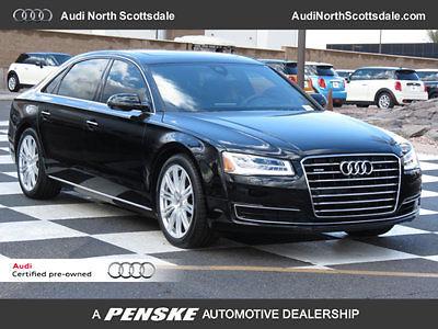 Audi : A8 4dr Sedan 3.0T 6 k miles used 2015 audi a 8 l awd bluetooth ipod sirus navigation heated seats