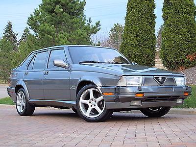 Alfa Romeo : Milano Verde Quadrifoglio 1988 alfa romeo milano 3.0 l verde rwd 1 of 800 made rare italian car
