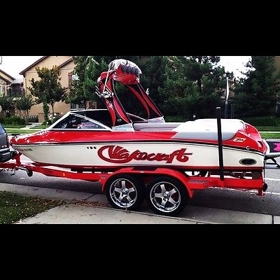 2007 WAKECRAFT ZR6 Wakeboard boat fully loaded RED GREY with trailer and rims