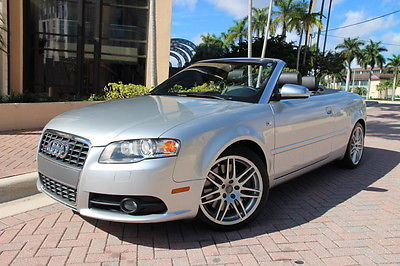 Audi : S4 Cabriolet Convertible 2-Door 2008 audi s 4 convertible navigation htd seats clean carfax