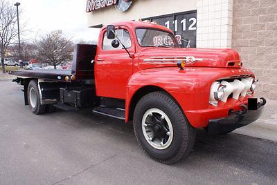 Ford : Other Big Job 1952 ford f 7 big job rollback frame off restoration custom rollback bed 292 ci
