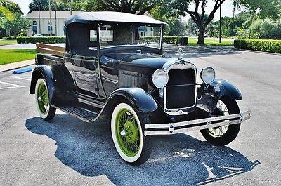 Ford : Model A pickup 1929 ford model a pickup rear convertible top