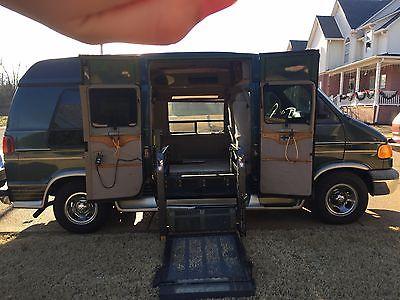 Dodge : Ram Van 2002 dodge ram van conversion with wheelchair lift and ez lock system
