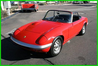 Lotus : Other 1969 lotus elan convertible red with black interior in great shape