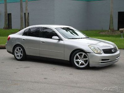 Infiniti : G35 BASE 4DR SEDAN 2003 infiniti g 35 sedan tinted windows black leather interior low miles