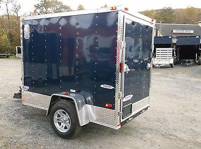 2016 Five Star Enclosed Cargo Trailer 5 x 8, V-Front, Rear Ramp,Side Door