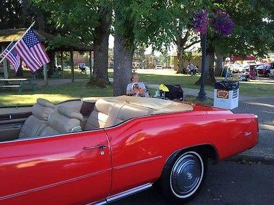 Cadillac : Eldorado CONVERTIBLE TORCH RED/BUCKSKIN INTERIOR 1976 CONVERTIBLE REBUILT MOTOR/TRANNY NEW INTERIOR