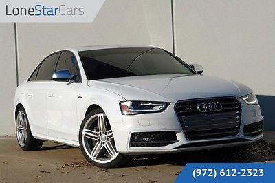 Audi : S4 Premium Plus 2014 white premium plus factory warranty