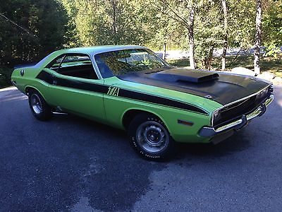 Dodge : Challenger 1970 dodge challenger ta lime green six pack