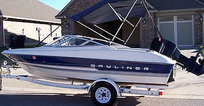 VERY NICE!!! BAYLINER 1700 CAPRI LS, 120HP FORCE ENGINE,W/TRAILER; LAKE READY