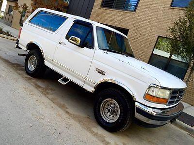 Ford : Bronco xlt 1993 ford bronco xlt 5.8 l 4 x 4