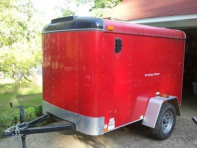 2009 Interstate Cargo Trailer 5 x 8, Red, Right Swing Rear Door.