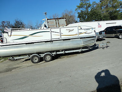 2005 21' Super Sport Pontoon Boat Party Barge with galv. easy Loader Trailer
