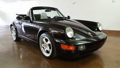 Porsche : 964 5 Speed 911 convertible 1992 porsche 964 cabriolet c 4 5 speed black on white rust free arizona car