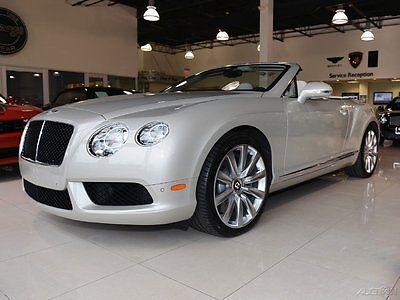 Bentley : Continental GT V8 2013 bentley continental gtc v 8 2 dr white sand w linen int awd 4 l v 8 32 v turbo