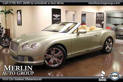 Bentley : Other 2dr Convertible 2013 bentley gtc convertible low miles 6.0 l 12 cyl iridium