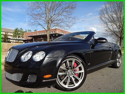 Bentley : Continental GT Speed 2 OWNER CLEAN CARFAX WE FINANCE! 6.0 l twin turbo midnight exterior beluga interior 80 11 limited edition gtc