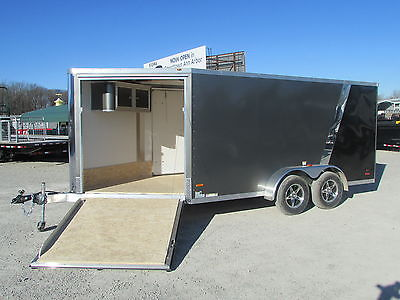 RC 2 PLACE SNOWMOBILE ENCLOSED TRAILER 7 X19 *WINTER BLOWOUT SALE* DR TRAILER