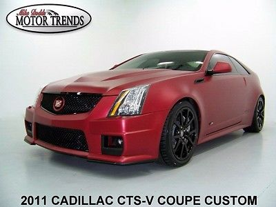 Cadillac : CTS CTS-V CUSTOM COUPE LEATHER SUEDE SEATS 2011 cadillac cts v custom coupe matte finish polished black wheels nav 29 k