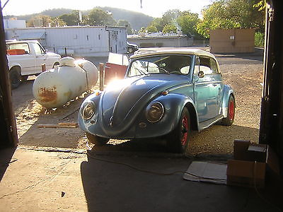 Volkswagen : Beetle - Classic convertible 1962 vw beetle convertible california car runs and drives