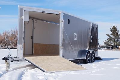 IN STOCK LEGEND Aluminum 7 X 23 Enclosed Snowmobile ATV Motorcycle Cargo Trailer