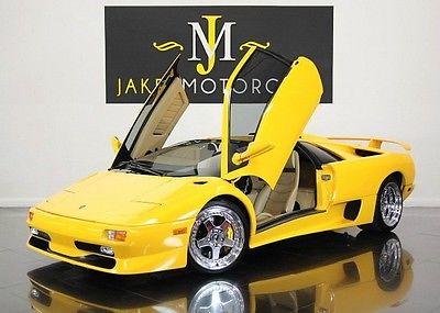 Lamborghini : Diablo (1-OWNER) 1998 lamborghini diablo sv rare collector car yellow on snowcorn pristine